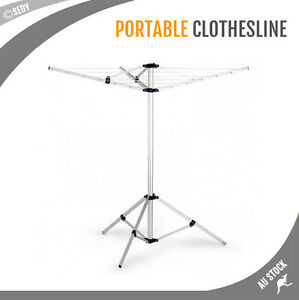 Image Is Loading Portable Clothes Rack Tripod Camping Dryer Airer Foldable
