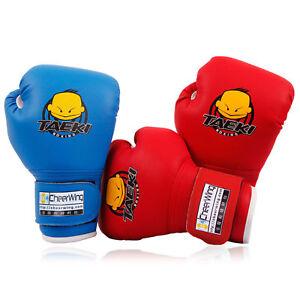 1Pair Children Cartoon Boxing Gloves Punching Bag Sparring Training Age 3-12
