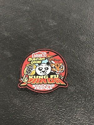 """Kung Fu Panda~Iron on Patch~Lowe/'s Build and Grow /""""Stacking Friends/""""~2 1//8/""""~NEW"""