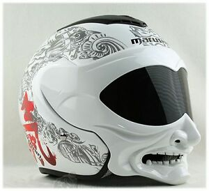 motorrad helm maske skull fullface 3d airbrush trike quad. Black Bedroom Furniture Sets. Home Design Ideas