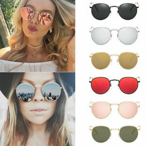 65d39671de6d Luxury Men Women s Round Metal Sunglasses Vintage Retro Oversized ...
