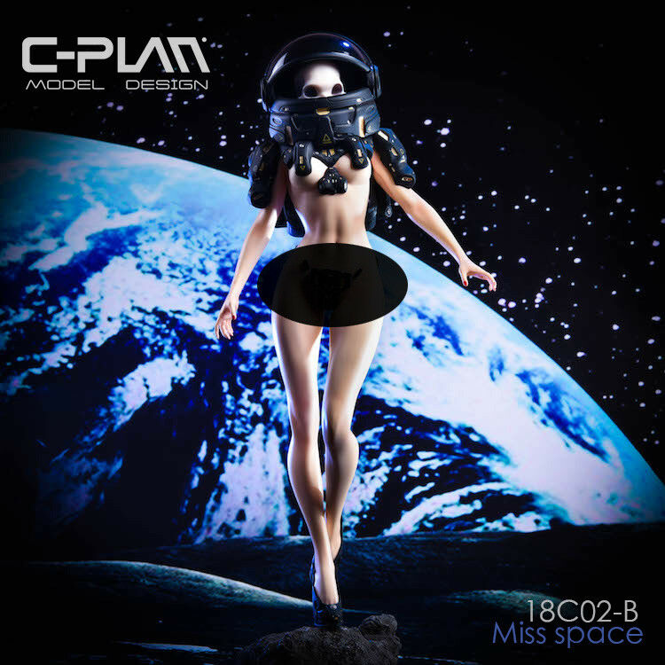 C-PLAN 1 6 18C02-B MISS Space Replacable Head Model Static Statue GK FiguRE Toy