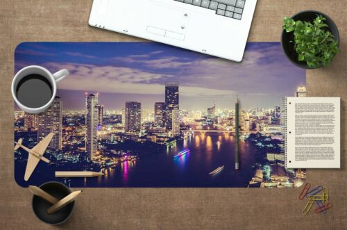 3D Colorful City 156 Nonslip Office Desk Mouse Mat Large Keyboard Pad Game