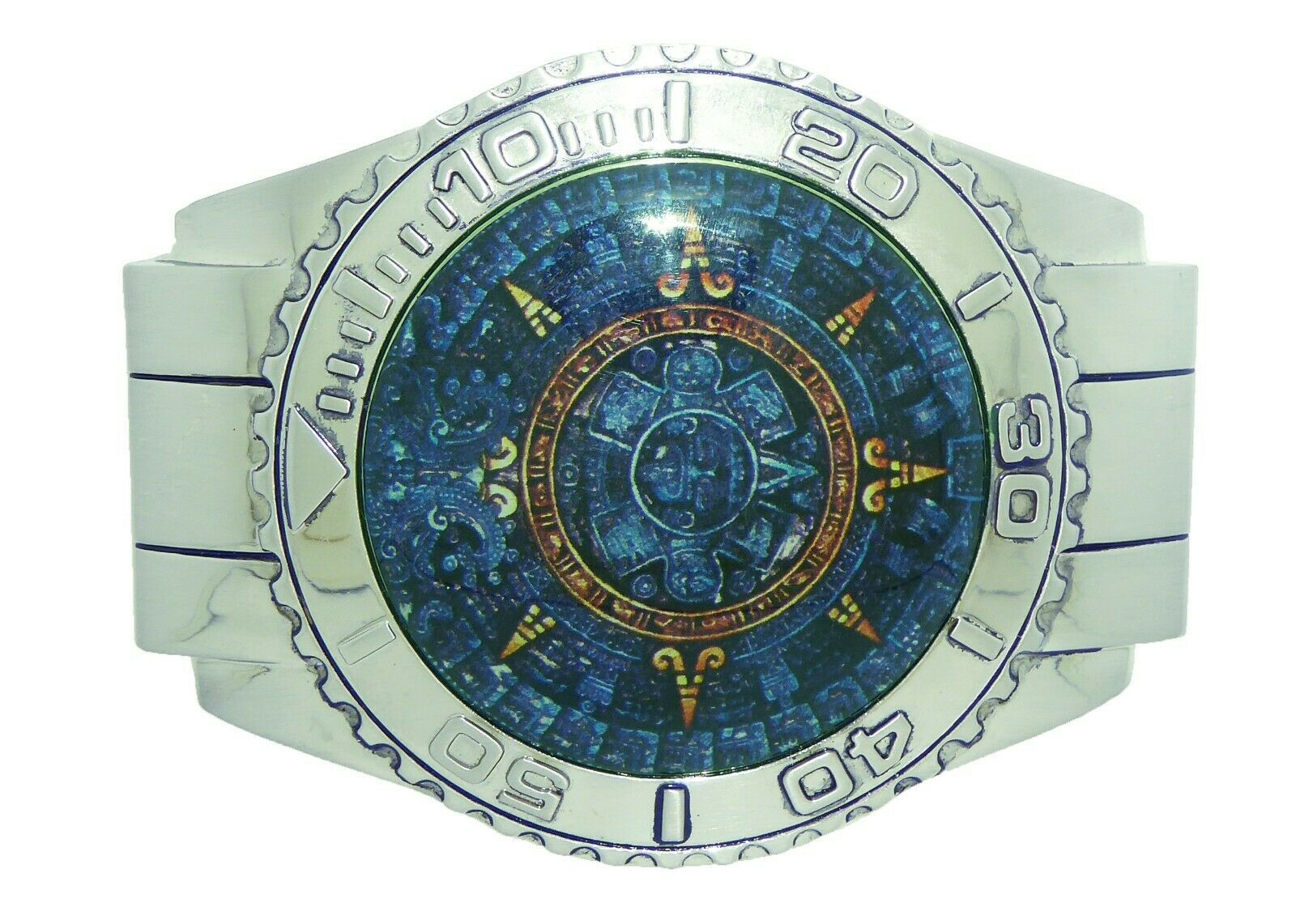 Azteken Kalender Gürtelschnalle Maya Indian Calendario Azteca Mexikaner Del Sol