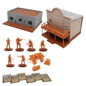 Outland Tactics War Games Miniatures Bloody West Cowboy & Terrain Set 28mm Scale