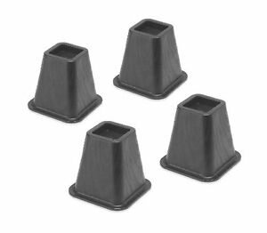 Whitmor 6511-3349-BLK Bed Risers 4 Count Black