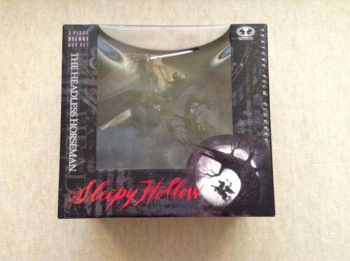 Le cavalier sans tête Sleepy Hollow ensemble 3 pièces McFarlane Toys non ouvert tous les Comme neuf