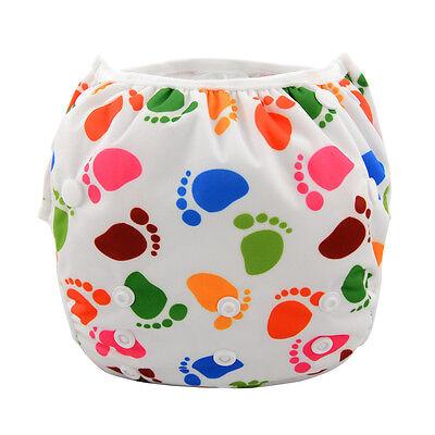 Alva Baby Cute Large Swim Diaper Washable Reusable One Size Breathable pant