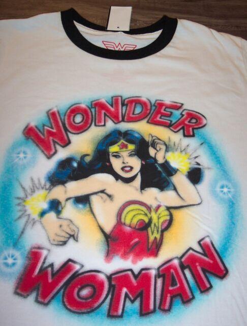 DC Comics Wonder Woman For President Mens Heather Shirt Navy