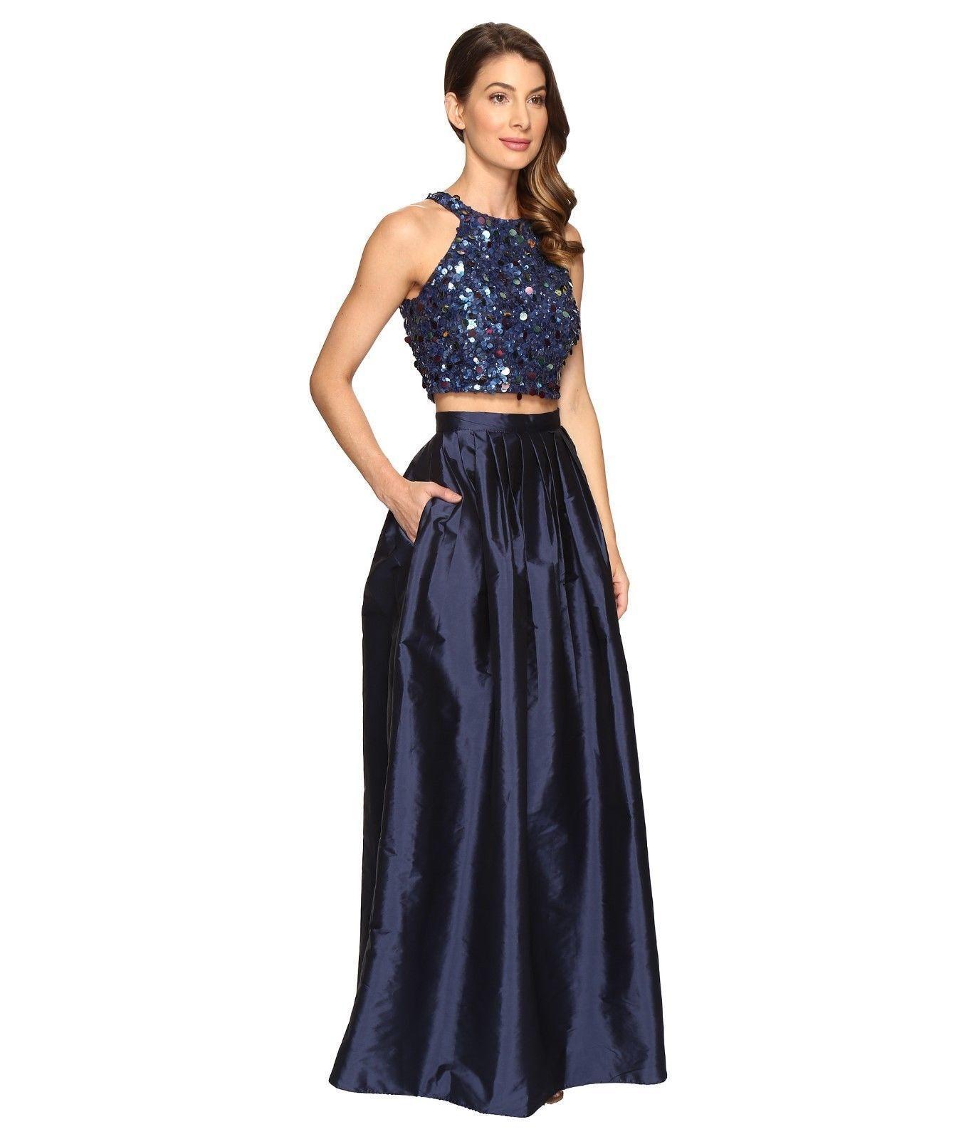 NWT  Adrianna Papell Embellished Two-Piece Ballgown [Größe  2P]  N617