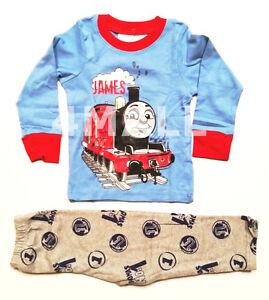New Boys Kids Thomas Long Sleeve Cotton Flannelette Winter Pyjamas PJ Sz 1~10