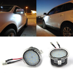 2Pcs-6000K-18LED-Side-Mirror-Puddle-Lights-For-Ford-Mondeo-Mk5-2015-Edge-F-150-Z
