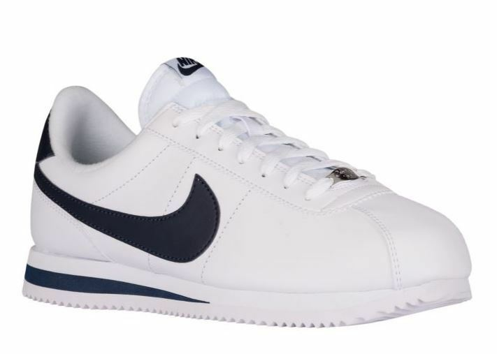 NIKE Cortez Basic Leather Men's  Running Casual shoes White Black 819719-100 O