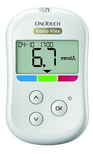 Onetouch Verio Flex Medidor de Glucosa en Sangre Mmol / L/L Plus Tiras Ensayo -