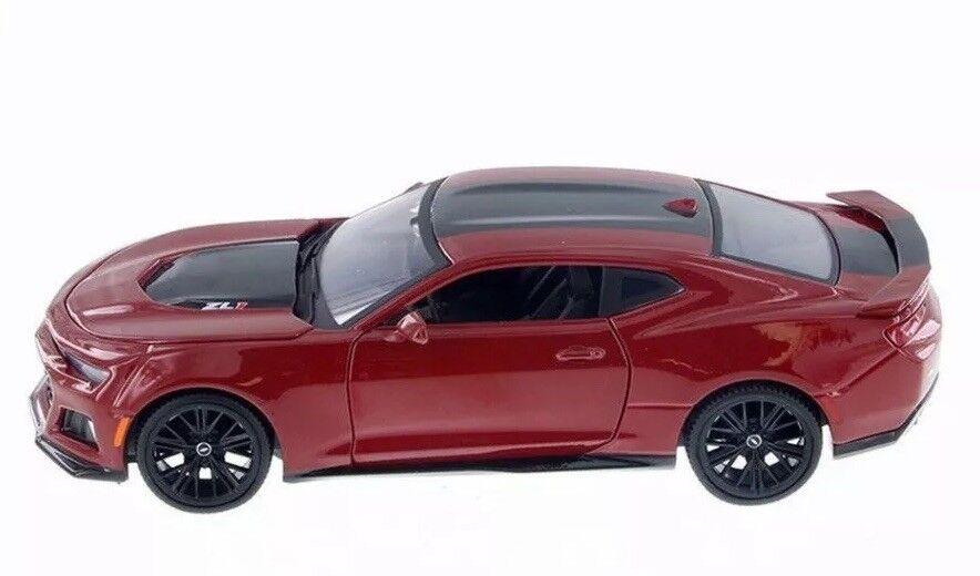 1 24 Escala Rojo Chevrolet Chevrolet Chevrolet Camaro ZL1 2017 Motormax Fundido Modelismo Coche 4f2319
