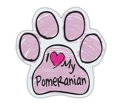Trucks and More! I Love My PomeranianCars Pink Dog Bone Shaped Magnets