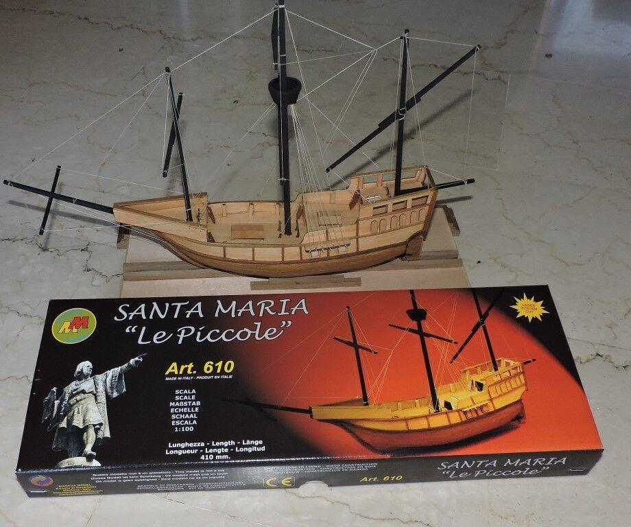 Mantua Santa Maria 1 100 Scale Wood Ship Kit  Le Piccole  - Columbus Flagship 14