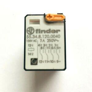 55.34.8.120.0040 Finder Plug-In Relay, 4PDT 7A, 120V AC coil, test