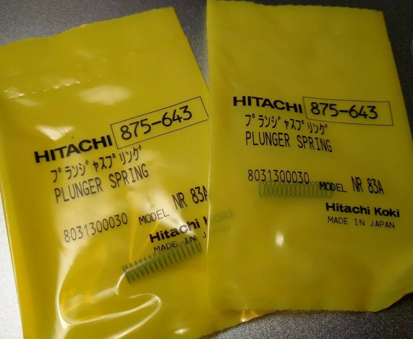4 Qty Hitachi 875-643 875643 PLUNGER SPRING for NR83A NR83AA