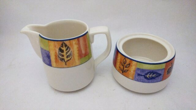 Royal Doulton Trailfinder TC1245 Creamer and Sugar Bowl Without lid