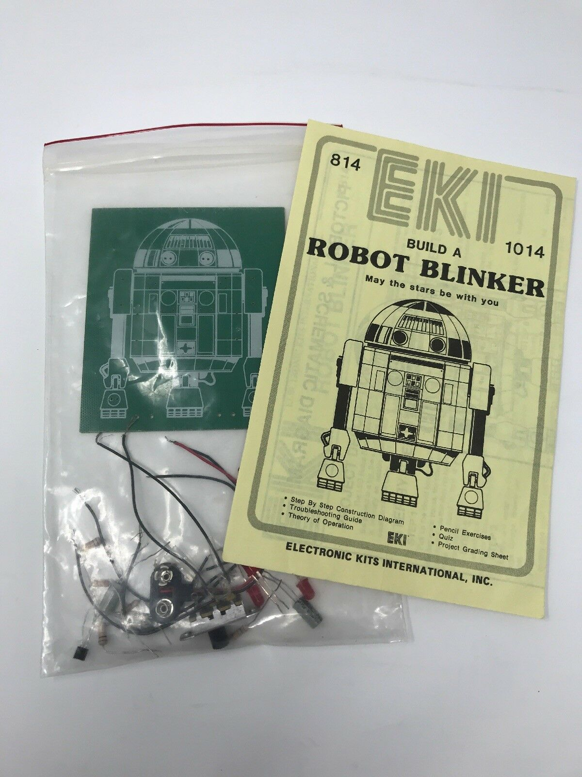 Vintage EKI Build a Robot Blinker Electronic Kit Unused Complete