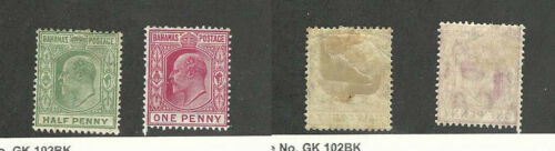 Bahamas, British, Postage Stamp, #4445 WMK 3 Mint Hinged, 1906