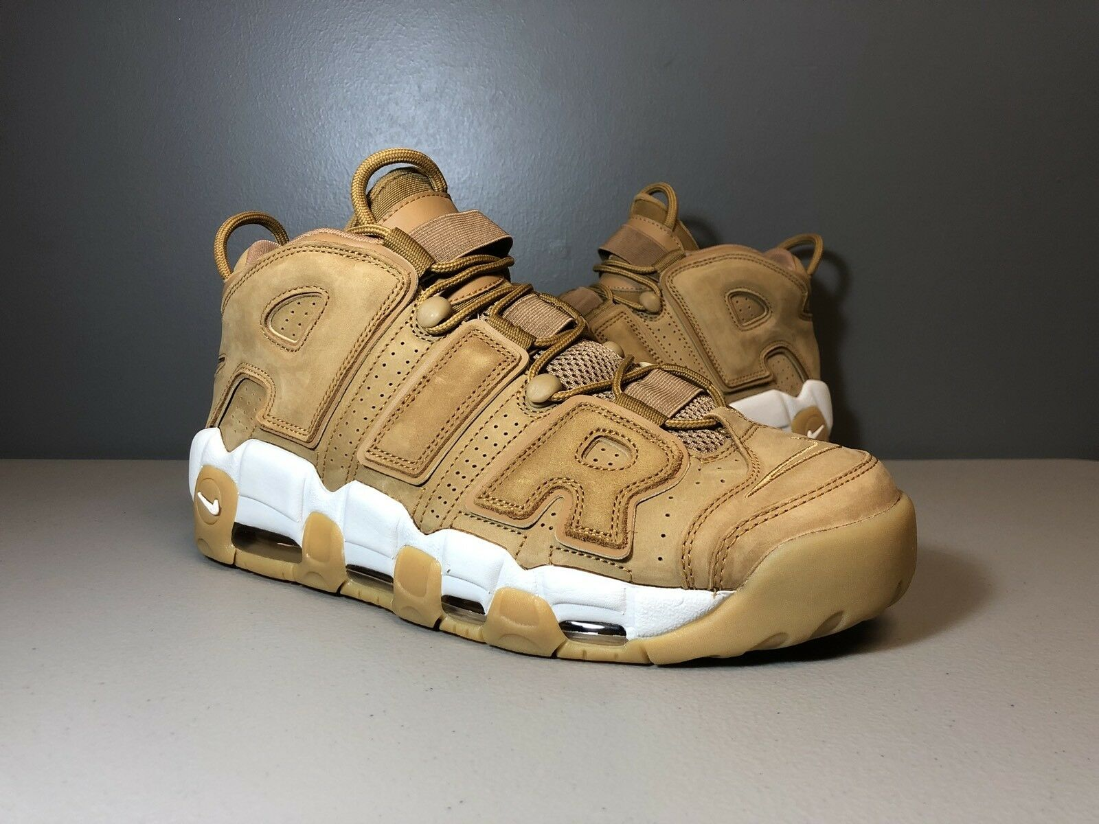 NIKE AIR MORE UPTEMPO 96 PRM WHEAT FLAX AA4060 2018 SIZE 12 Great discount