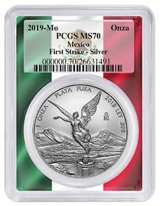 2019-Mexico-1oz-Silver-Onza-Libertad-PCGS-MS70-First-Strike-Frame-Label