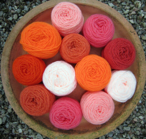 ORANGE MIX Mixed BALLS CRAFT PACK 220g DK kniting//crochet YARN CRAFTS