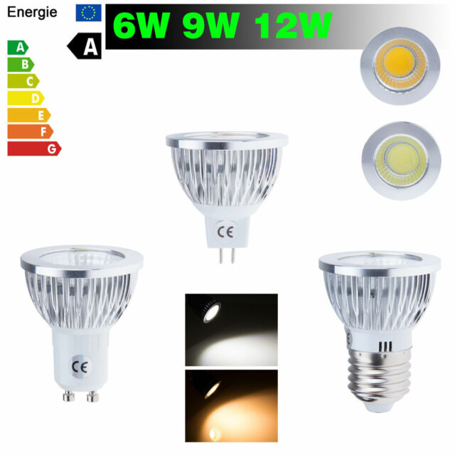 10/20/50x Dimmable Ampoules 6W 9W 12W MR16 E27 GU10 COB LED Spotlight Bulb Lampe