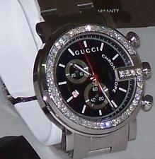 38e50b34431 item 3 New Men s 101m Gucci chrono 1.92ct.aprx.custom set real Diamond  Watch YA101309 -New Men s 101m Gucci chrono 1.92ct.aprx.custom set real  Diamond Watch ...