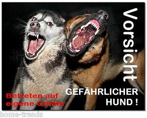 Gefährlicher-hund-aluminium-schild-0,5-3mm Dick-türschild-warnschild-hundeschild Haustierbedarf