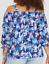 LANE-BRYANT-WOMENS-RUCHED-SLEEVE-OFF-SHOULDER-TOP-Plus-14-16-18-20-22-24-26-28 thumbnail 2