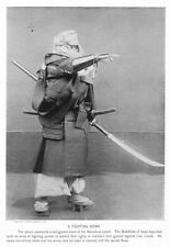Japanese 'Fighting Monk' Rogue Samurai with Yari, Spear 7x5 Inch Reprint Photo