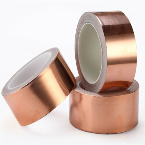 "1.2/"" 1.6/"" 2/"" 65.6ft Copper Foil Slug Tape Adhesive Barrier Tape 0.06mm UK Stock"