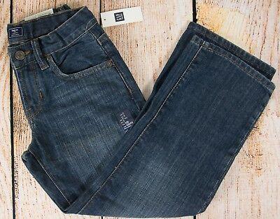 NWT Boys GAP Kids Loose Fit Jeans Adjustable Waist Medium Wash 185059