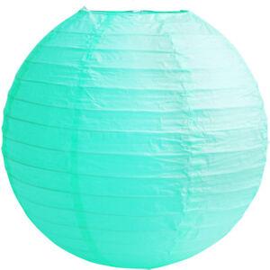 Image Is Loading 24 034 60cm Aqua Blue Round Paper Lanterns