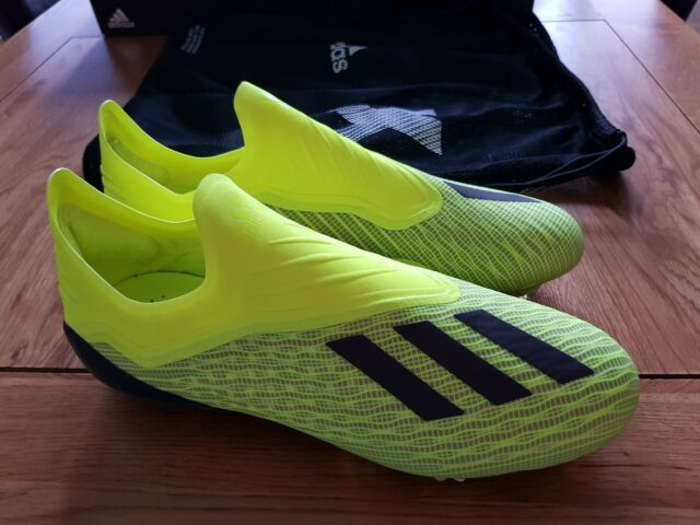 Adidas X 18 + Firm Ground Boots FG NEW Size 10 UK Yellow X18+ Plus