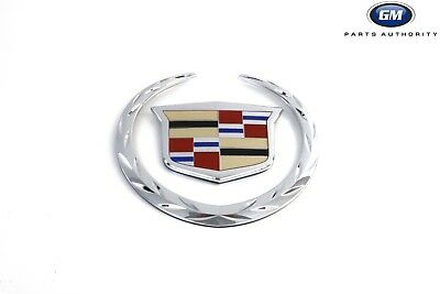 OEM NEW Front Grille Crest /& Wreathe Emblem 07-13 Cadillac Escalade 22985035