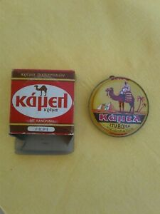 Vintage-Shoe-Polish-Grease-Tin-Can-CAMEL-Color-Grey-New-old-stock