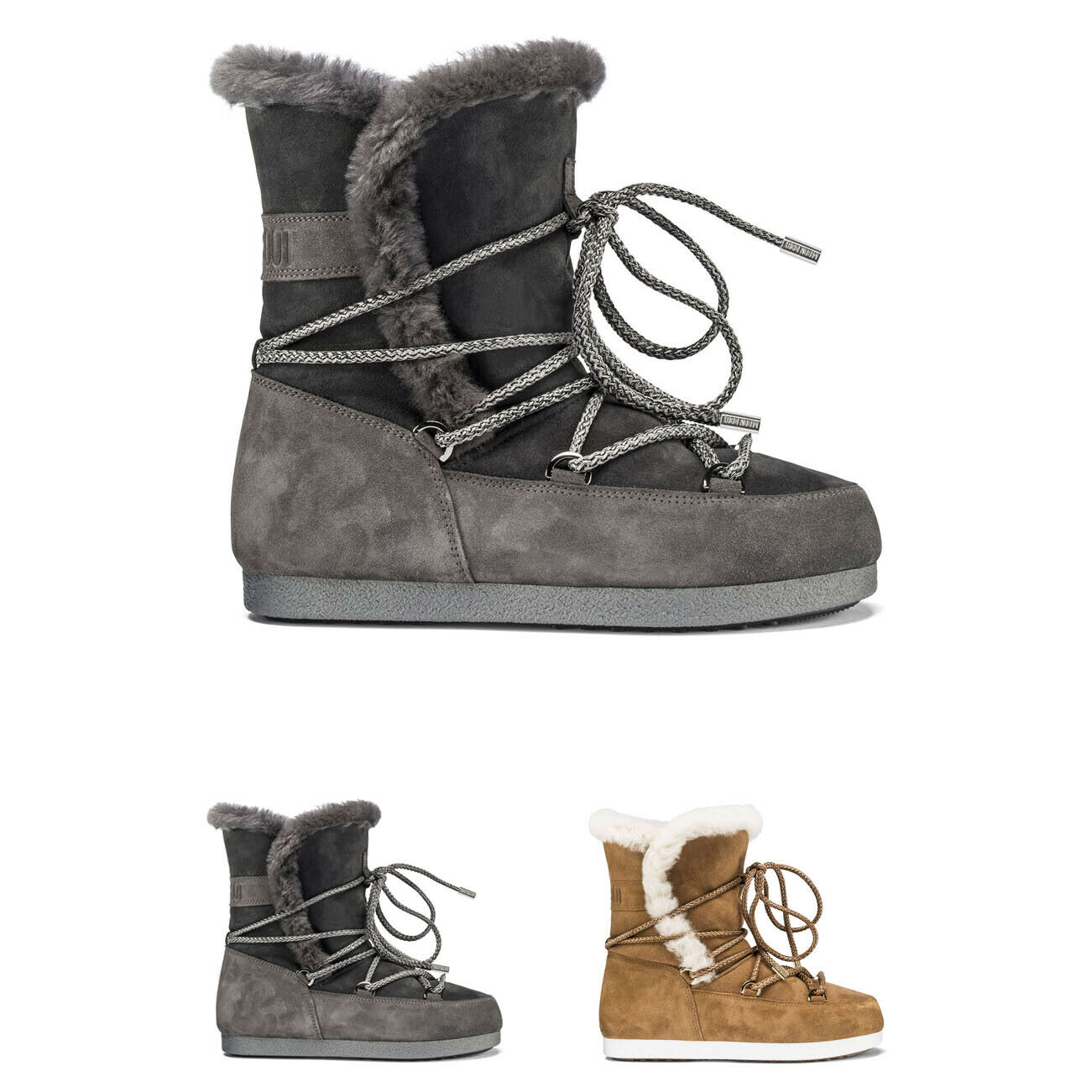 Womens Tecnica Moon Boot Far Side High Shearling Faux Fur Winter Boots US 5.5-10