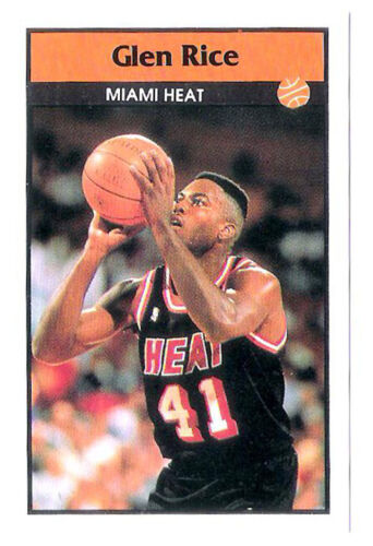 Glen Rice 199293 Miami Heat Basketball Italian Panni Sticker card