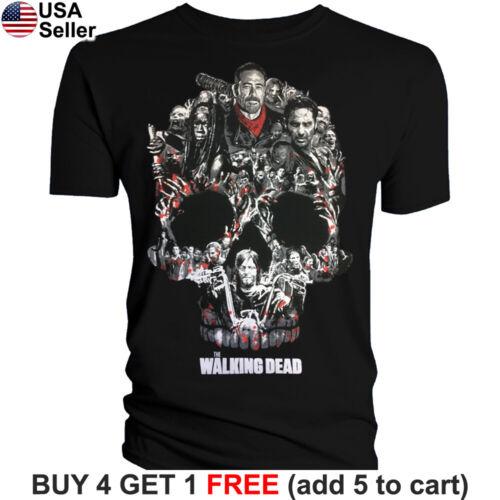The Walking Dead Daryl Stripes Adult T-Shirt