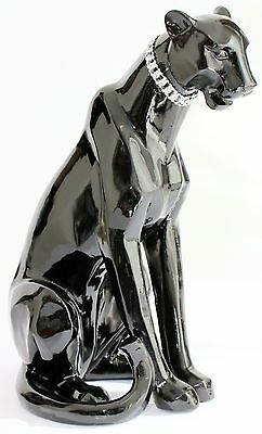 Black Panther Sitting for Home And Garden Good Luck Charm 30CM Excellent Detail