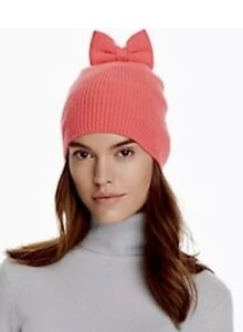 187dbd15cedb6 NWT Kate Spade New York Knit Bow Hat Pink Beau Beanie