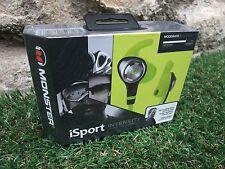 Monster iSport Intensity Headphones In Neon Green ~ Brand New In Sealed Box