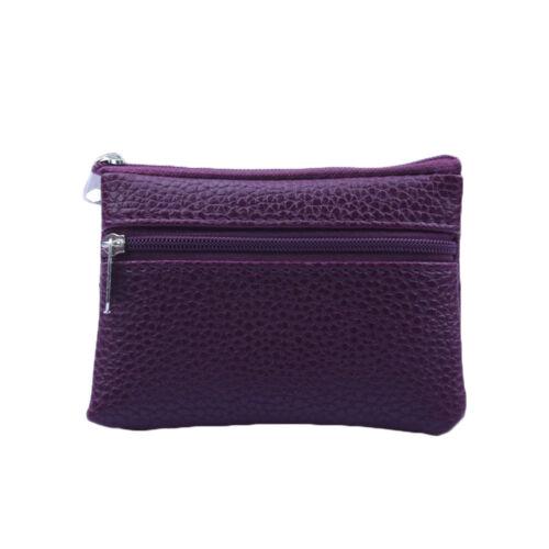 Portable Faux Leather Coin Purse Women Small Change Wallet Mini Zipper Money Bag