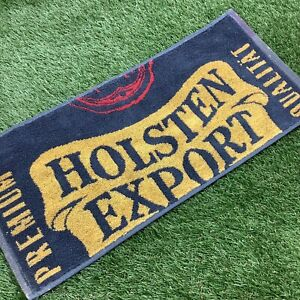 Retro-1990s-Holsten-Export-Bar-Towel-Grey-Yellow-Red-Man-Cave-Pub-Spurs