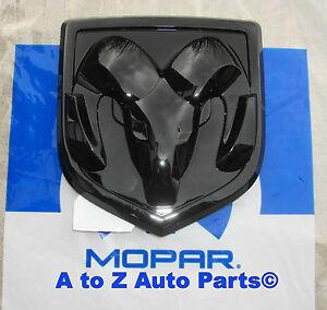 NEW-2009-2018-Dodge-Ram-1500-3500-BLACK-RAMs-Head-Logo-Tailgate-EMBLEM-OE-Mopar