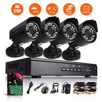 4CH HDMI 960P DVR 1800TVL Outdoor CCTV Video Security Camera System 1TB HDD IP66